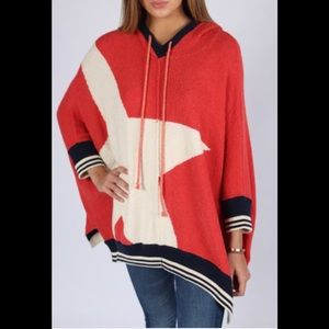 Free People I know places Red, White, Blue Hoodie